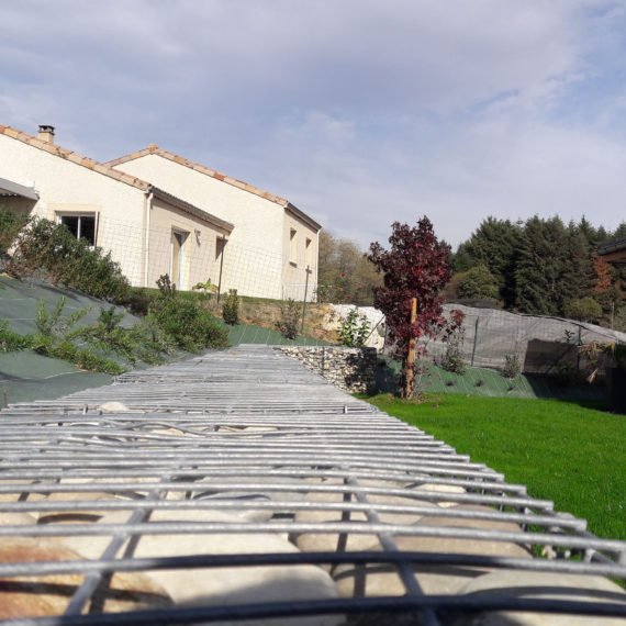 mur gabion jardin drôme