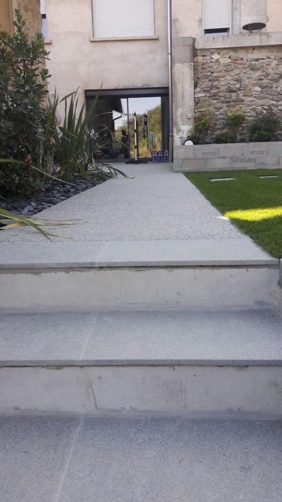 création escalier jardin c2s maçonnerie drôme