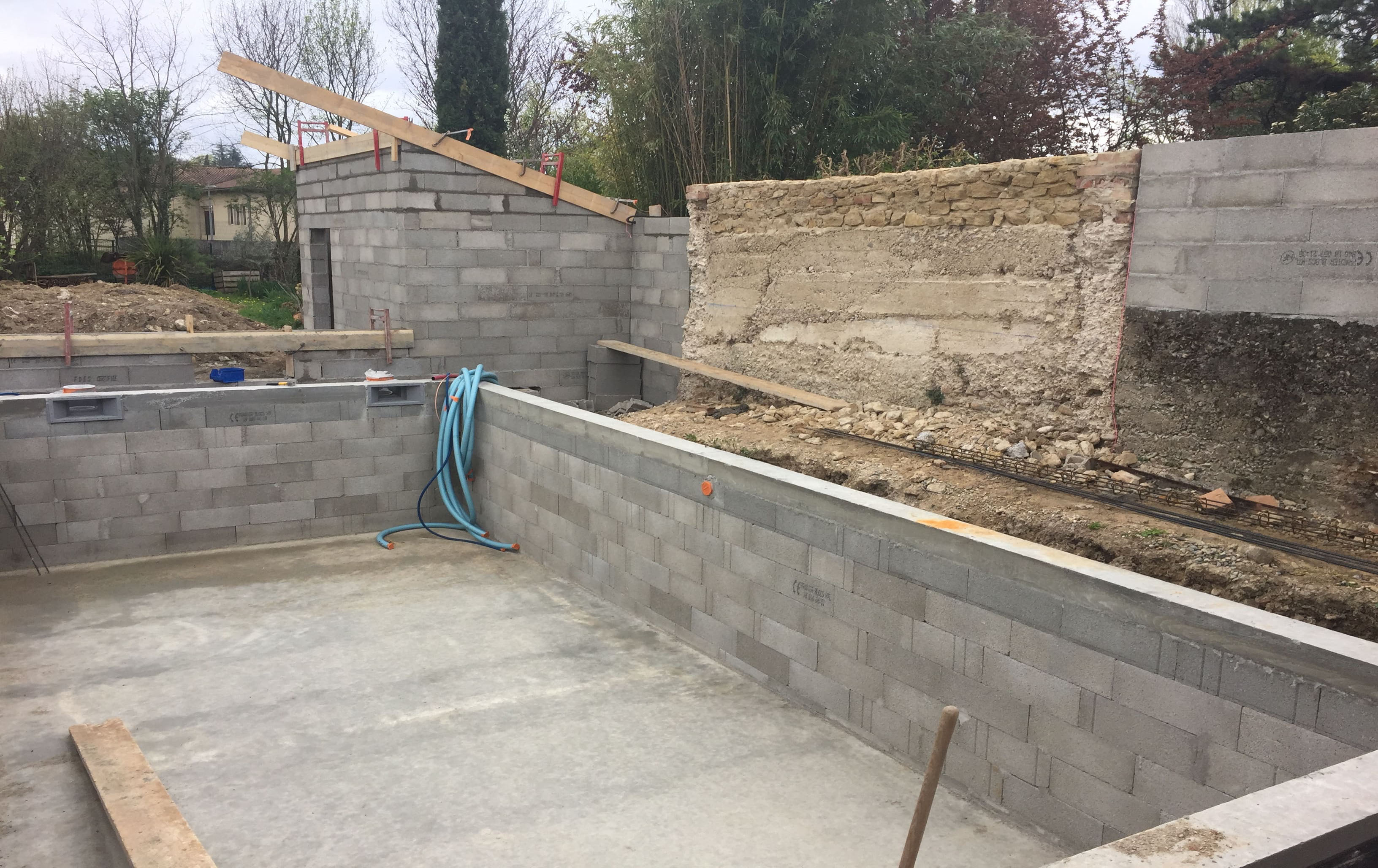 Travaux Piscine Pool House - C2S Maçonnerie