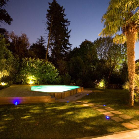 installation éclairage jardin paysagiste valence