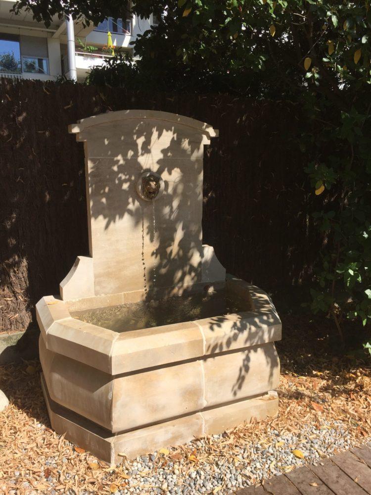 aménagement fontaine jardin drôme
