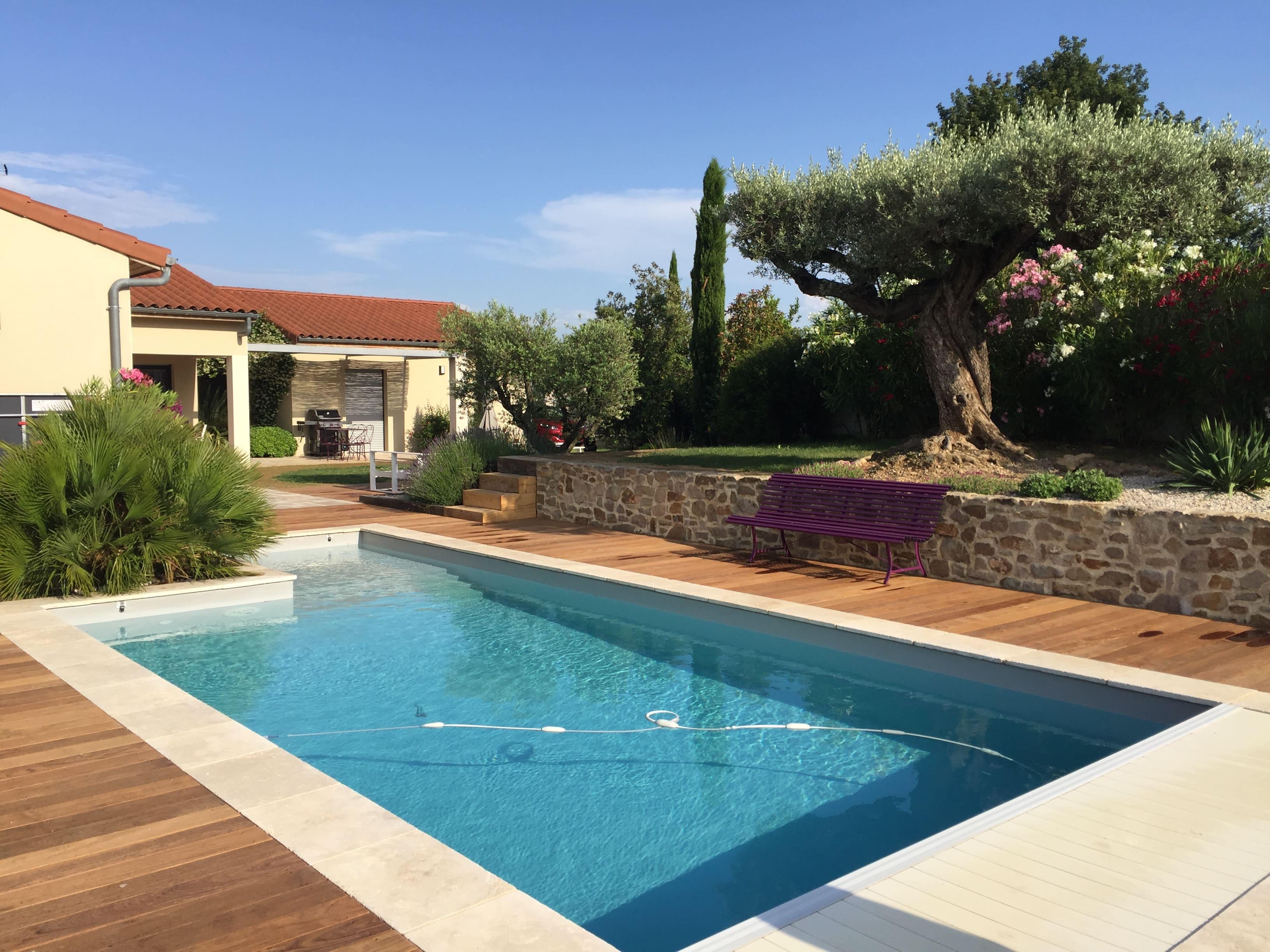 réalisation jardin piscine drôme cédric Pierre Paysage
