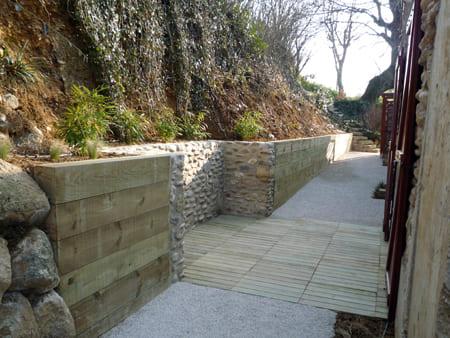muret pierre jardin drôme ardèche