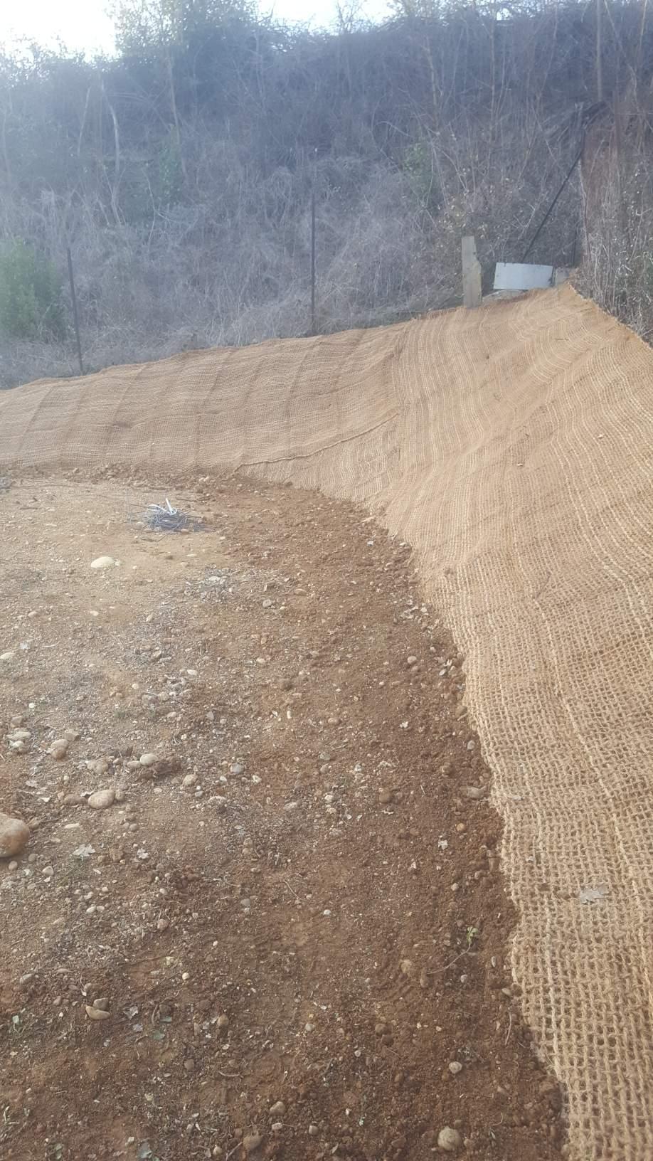 Toile fibre coco maintien de talus