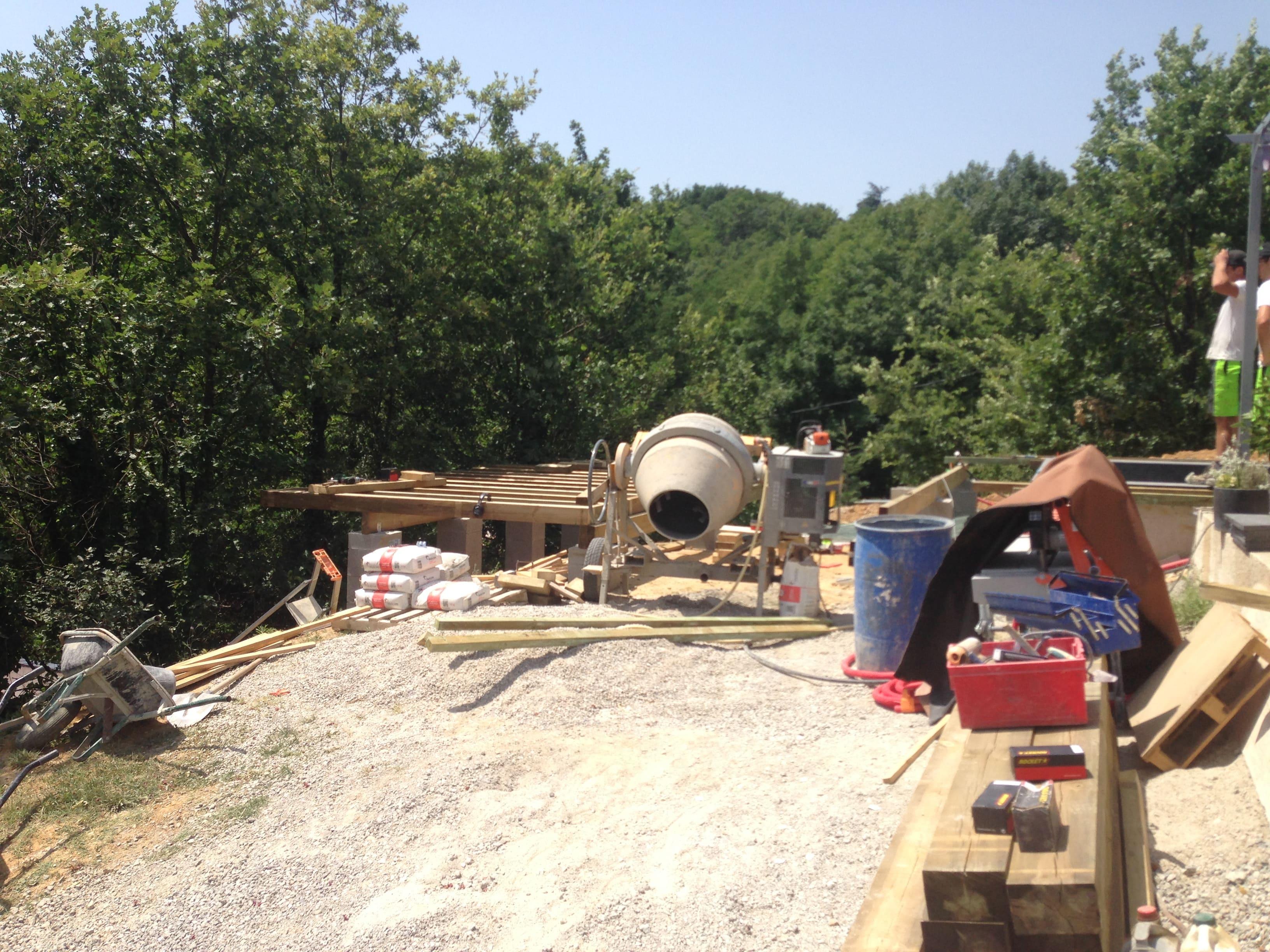 création terrasse suspendue drôme ardèche