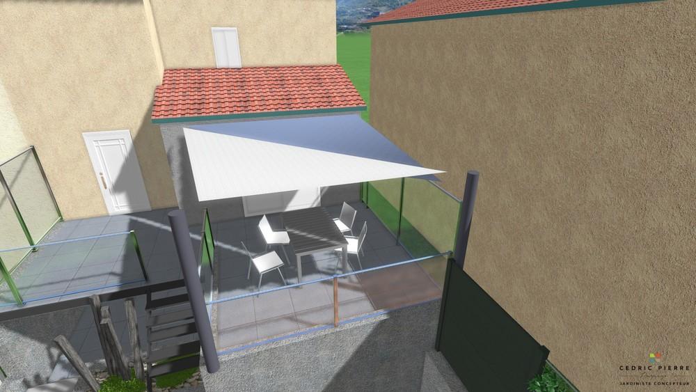 vue 3D voile d'ombrage